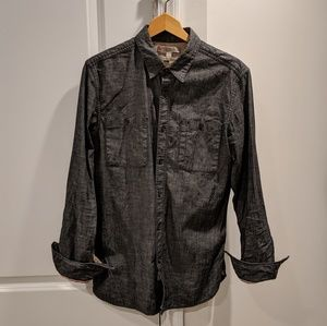 BR black/charcoal long sleeve button down